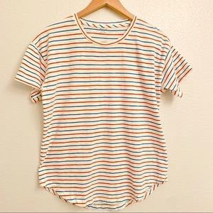 Madewell Stripes Cotton Ivory shirt Size M